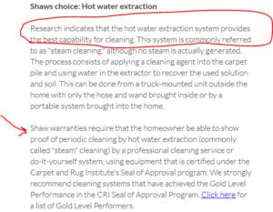 shaw-warranty