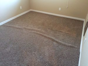Example of carpet stretching in Vancouver, Wa.