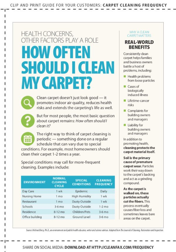 Guidelines for Carpet Cleaning